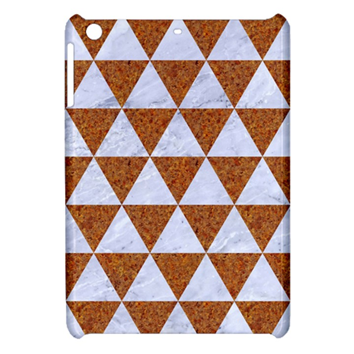 TRIANGLE3 WHITE MARBLE & RUSTED METAL Apple iPad Mini Hardshell Case