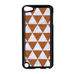 TRIANGLE3 WHITE MARBLE & RUSTED METAL Apple iPod Touch 5 Case (Black) Front