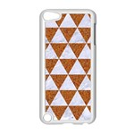 TRIANGLE3 WHITE MARBLE & RUSTED METAL Apple iPod Touch 5 Case (White) Front