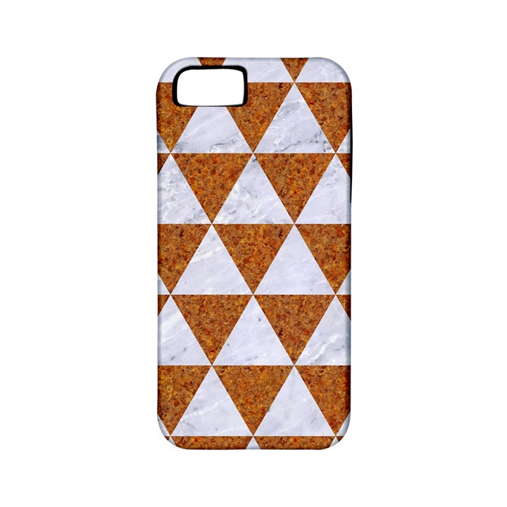 TRIANGLE3 WHITE MARBLE & RUSTED METAL Apple iPhone 5 Classic Hardshell Case (PC+Silicone)