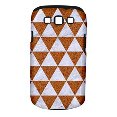 Triangle3 White Marble & Rusted Metal Samsung Galaxy S Iii Classic Hardshell Case (pc+silicone)