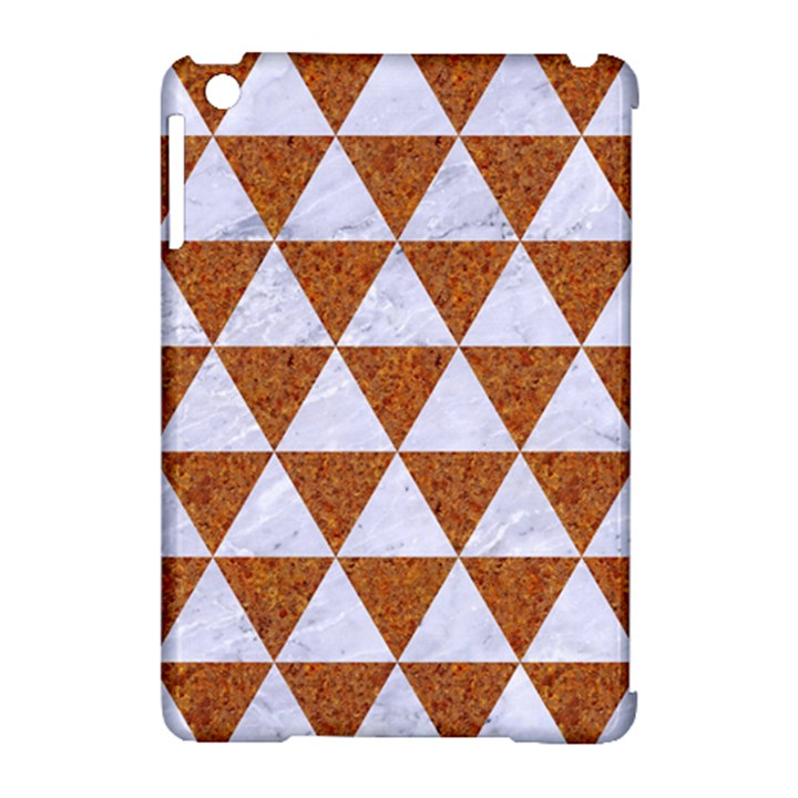 TRIANGLE3 WHITE MARBLE & RUSTED METAL Apple iPad Mini Hardshell Case (Compatible with Smart Cover)