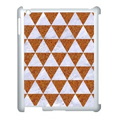 Triangle3 White Marble & Rusted Metal Apple Ipad 3/4 Case (white)
