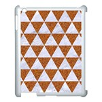 TRIANGLE3 WHITE MARBLE & RUSTED METAL Apple iPad 3/4 Case (White) Front