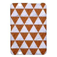 Triangle3 White Marble & Rusted Metal Kindle Fire Hd 8 9