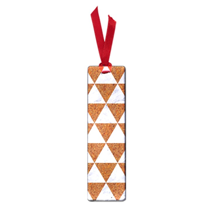 TRIANGLE3 WHITE MARBLE & RUSTED METAL Small Book Marks