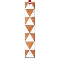 Triangle3 White Marble & Rusted Metal Large Book Marks
