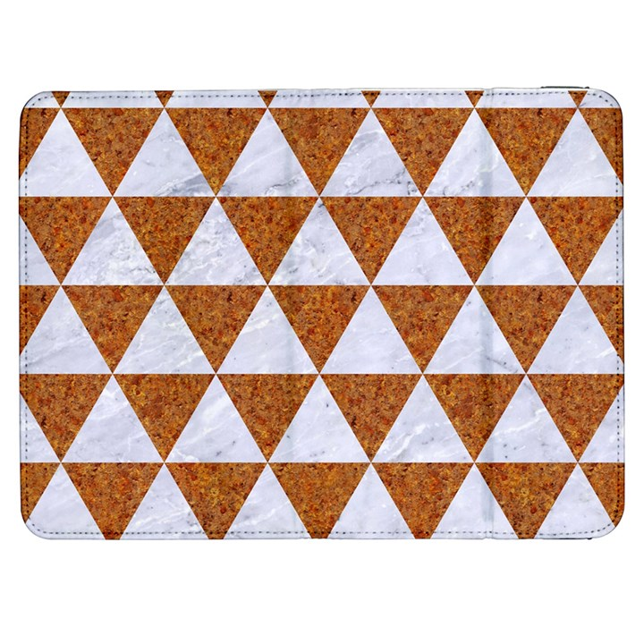 TRIANGLE3 WHITE MARBLE & RUSTED METAL Samsung Galaxy Tab 7  P1000 Flip Case