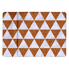 Triangle3 White Marble & Rusted Metal Samsung Galaxy Tab 10 1  P7500 Flip Case