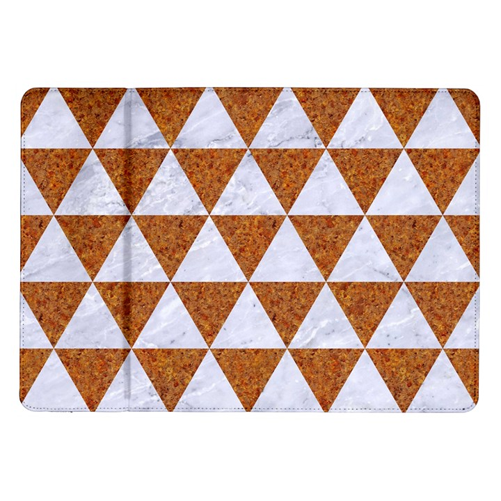 TRIANGLE3 WHITE MARBLE & RUSTED METAL Samsung Galaxy Tab 10.1  P7500 Flip Case
