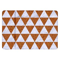 Triangle3 White Marble & Rusted Metal Samsung Galaxy Tab 8 9  P7300 Flip Case