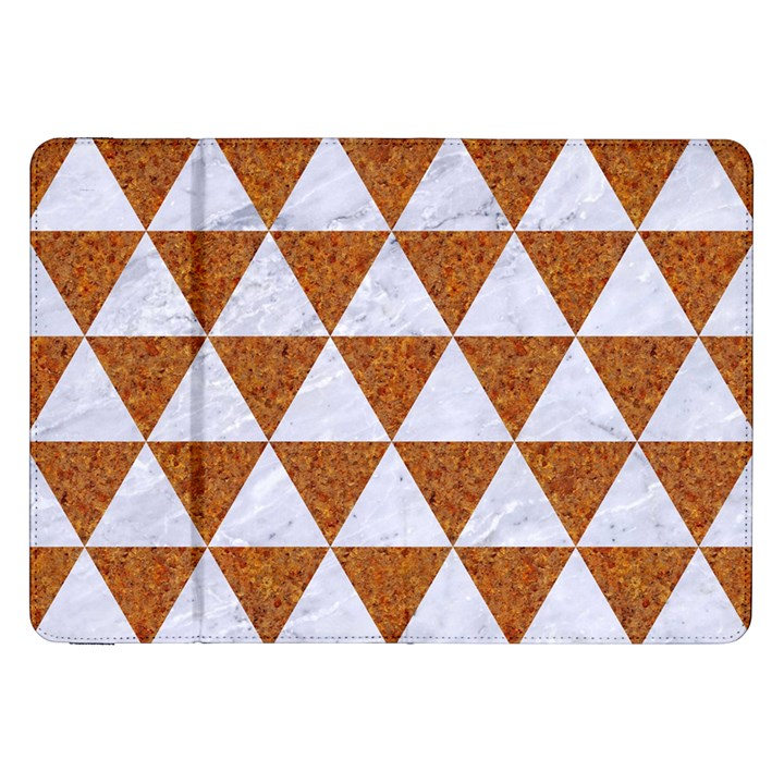 TRIANGLE3 WHITE MARBLE & RUSTED METAL Samsung Galaxy Tab 8.9  P7300 Flip Case