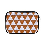 TRIANGLE3 WHITE MARBLE & RUSTED METAL Apple iPad Mini Zipper Cases Front