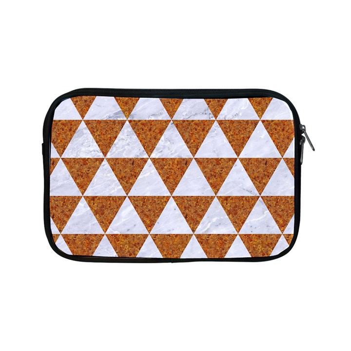 TRIANGLE3 WHITE MARBLE & RUSTED METAL Apple iPad Mini Zipper Cases