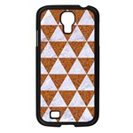 TRIANGLE3 WHITE MARBLE & RUSTED METAL Samsung Galaxy S4 I9500/ I9505 Case (Black) Front