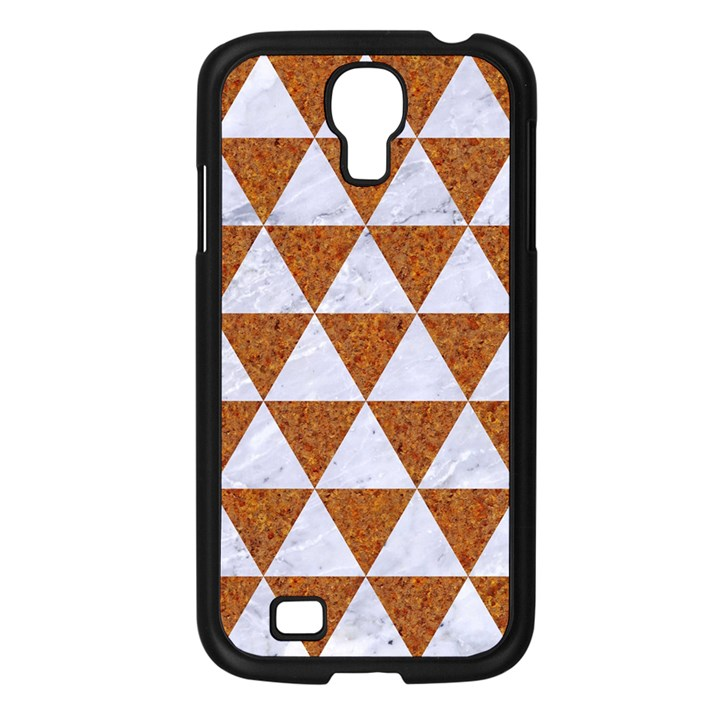 TRIANGLE3 WHITE MARBLE & RUSTED METAL Samsung Galaxy S4 I9500/ I9505 Case (Black)