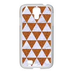 Triangle3 White Marble & Rusted Metal Samsung Galaxy S4 I9500/ I9505 Case (white)