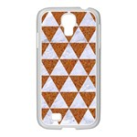 TRIANGLE3 WHITE MARBLE & RUSTED METAL Samsung GALAXY S4 I9500/ I9505 Case (White) Front