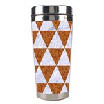 TRIANGLE3 WHITE MARBLE & RUSTED METAL Stainless Steel Travel Tumblers Left