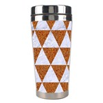 TRIANGLE3 WHITE MARBLE & RUSTED METAL Stainless Steel Travel Tumblers Center
