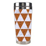 TRIANGLE3 WHITE MARBLE & RUSTED METAL Stainless Steel Travel Tumblers Right