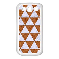 Triangle3 White Marble & Rusted Metal Samsung Galaxy S3 Back Case (white)