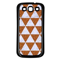 Triangle3 White Marble & Rusted Metal Samsung Galaxy S3 Back Case (black)
