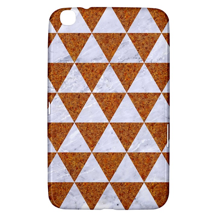 TRIANGLE3 WHITE MARBLE & RUSTED METAL Samsung Galaxy Tab 3 (8 ) T3100 Hardshell Case