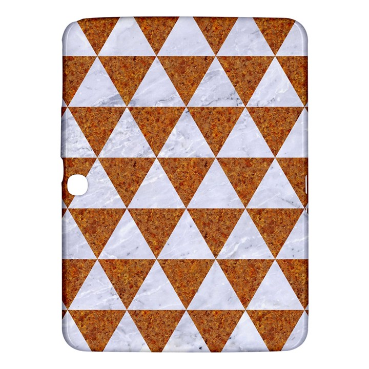 TRIANGLE3 WHITE MARBLE & RUSTED METAL Samsung Galaxy Tab 3 (10.1 ) P5200 Hardshell Case