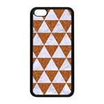 TRIANGLE3 WHITE MARBLE & RUSTED METAL Apple iPhone 5C Seamless Case (Black) Front