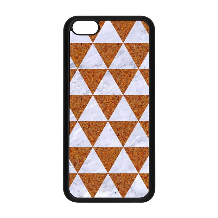 TRIANGLE3 WHITE MARBLE & RUSTED METAL Apple iPhone 5C Seamless Case (Black)