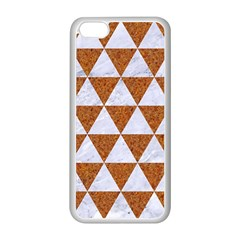 Triangle3 White Marble & Rusted Metal Apple Iphone 5c Seamless Case (white)