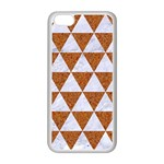 TRIANGLE3 WHITE MARBLE & RUSTED METAL Apple iPhone 5C Seamless Case (White) Front