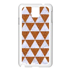 Triangle3 White Marble & Rusted Metal Samsung Galaxy Note 3 N9005 Case (white)