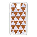 TRIANGLE3 WHITE MARBLE & RUSTED METAL Samsung Galaxy Note 3 N9005 Case (White) Front