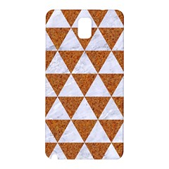Triangle3 White Marble & Rusted Metal Samsung Galaxy Note 3 N9005 Hardshell Back Case