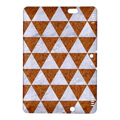 Triangle3 White Marble & Rusted Metal Kindle Fire Hdx 8 9  Hardshell Case