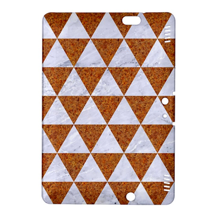 TRIANGLE3 WHITE MARBLE & RUSTED METAL Kindle Fire HDX 8.9  Hardshell Case