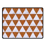 TRIANGLE3 WHITE MARBLE & RUSTED METAL Double Sided Fleece Blanket (Small)  45 x34 Blanket Back