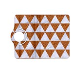 TRIANGLE3 WHITE MARBLE & RUSTED METAL Kindle Fire HD (2013) Flip 360 Case Front