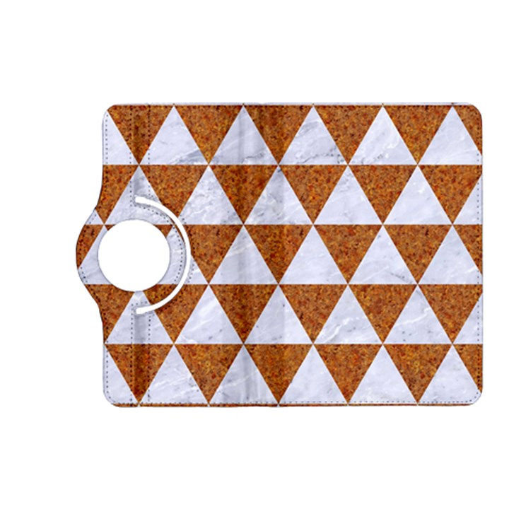 TRIANGLE3 WHITE MARBLE & RUSTED METAL Kindle Fire HD (2013) Flip 360 Case