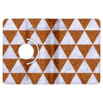 TRIANGLE3 WHITE MARBLE & RUSTED METAL Kindle Fire HDX Flip 360 Case Front