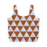 TRIANGLE3 WHITE MARBLE & RUSTED METAL Full Print Recycle Bags (M)  Front