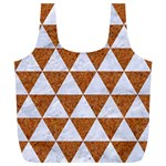TRIANGLE3 WHITE MARBLE & RUSTED METAL Full Print Recycle Bags (L)  Back