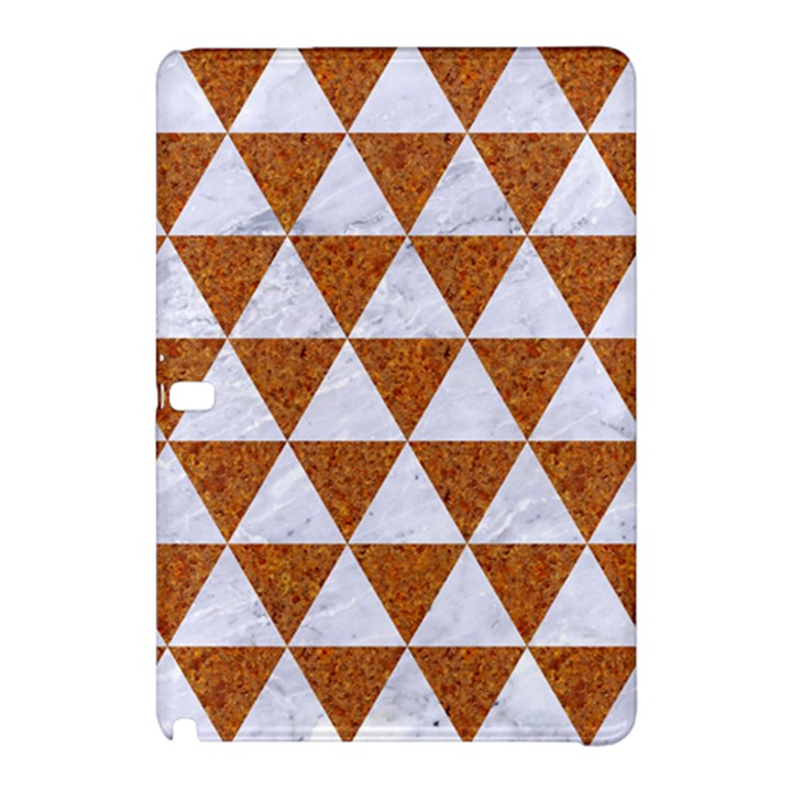 TRIANGLE3 WHITE MARBLE & RUSTED METAL Samsung Galaxy Tab Pro 10.1 Hardshell Case