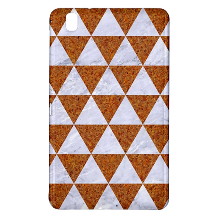 TRIANGLE3 WHITE MARBLE & RUSTED METAL Samsung Galaxy Tab Pro 8.4 Hardshell Case