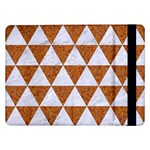 TRIANGLE3 WHITE MARBLE & RUSTED METAL Samsung Galaxy Tab Pro 12.2  Flip Case Front