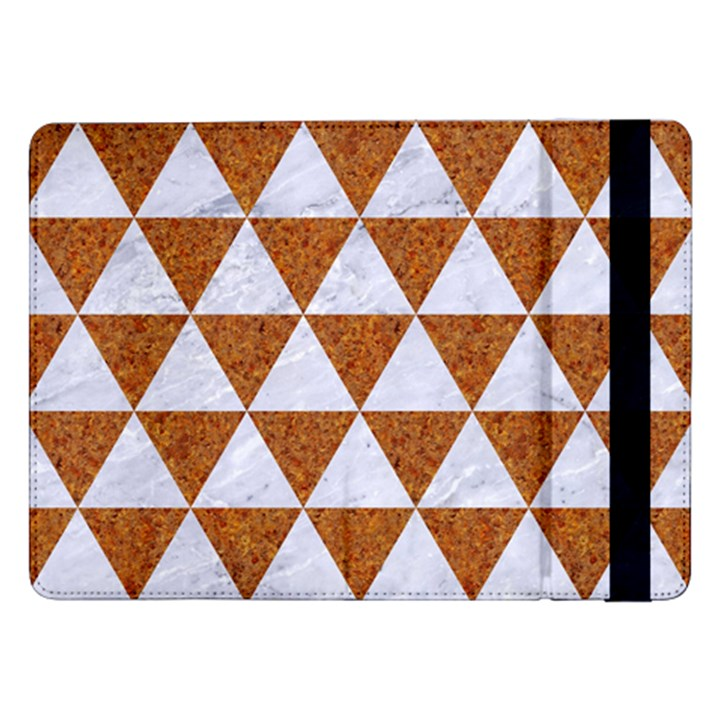 TRIANGLE3 WHITE MARBLE & RUSTED METAL Samsung Galaxy Tab Pro 12.2  Flip Case