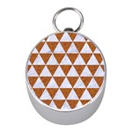 TRIANGLE3 WHITE MARBLE & RUSTED METAL Mini Silver Compasses Front