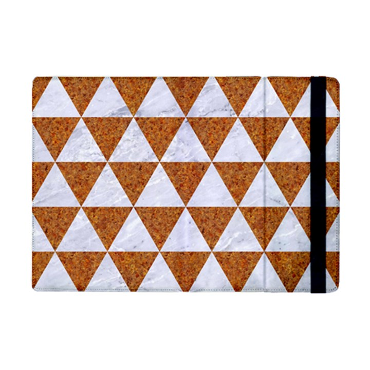 TRIANGLE3 WHITE MARBLE & RUSTED METAL iPad Mini 2 Flip Cases